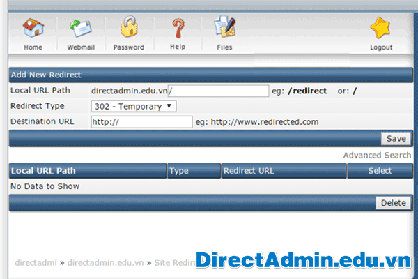 Add-New-Redirect
