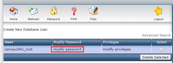 modify password