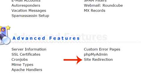 Site Redirection