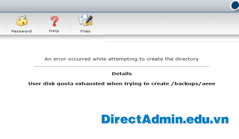 An error occurred while attempting to create the directory