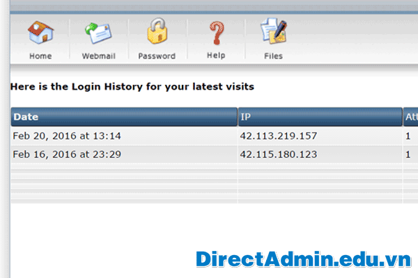 Here is the Login History for your latest visits