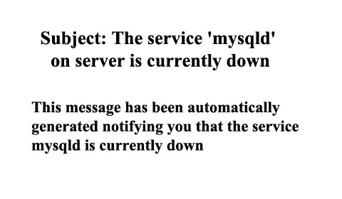 Cách xử lý lỗi Subject: The service 'mysqld' on server is currently down