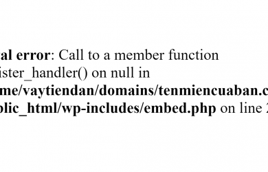 Cách Fix lỗi Fatal error Call to a member function register_handler() on null in
