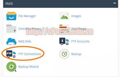 Hướng dẫn quản lý các kết nối FTP trên cPanel hosting - FTP Connections