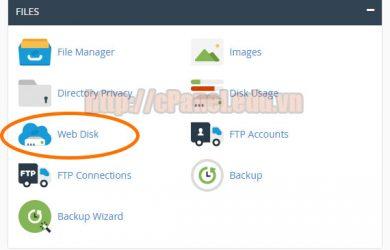 Hướng dẫn truy cập ổ đĩa web từ máy tính với Web Disk của cPanel