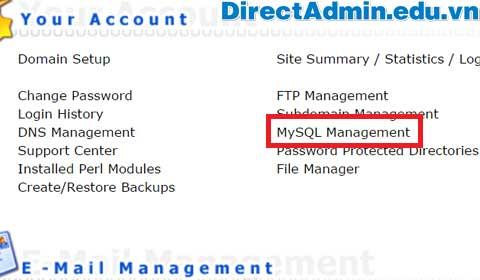 MySQL Management