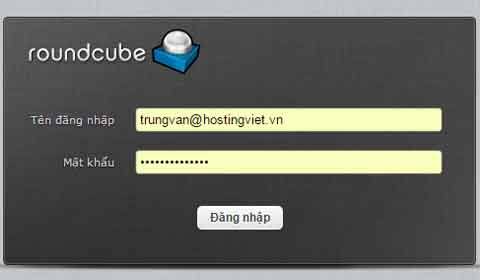 Dang nhap Webmail Roundcube